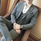 Men's Wedding Dress Formal Jacket&Pant Suits Double Breasted 3 Piece Floral Slim