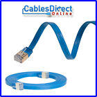 CAT7 Internet Modem Cable Blue Network Patch Cord Ethernet Flat Router Wire Lot