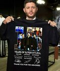 Supernatural 15 Years T-shirt All Cast Signed Tee Shirt Size S-5XL image