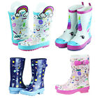 Girls Boys Cute Pattern Rain Boots Toddler Little Big Kids Rubber Water Shoes