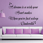When Youre Fast Asleep Cinderella Quote Wall Decal Bedroom Stickers