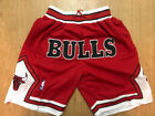 Chicago Bulls MEN'S Vintage Throwback Basketball Shorts Red on eBay