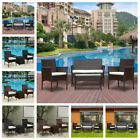 3/4pcs Rattan Garden Furniture Conservatory Sofa Patio Table Chair Set Outdoor
