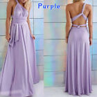 US Ladies Long Maxi Formal Dress Wedding Bridesmaid Evening Party Prom Ball Gown