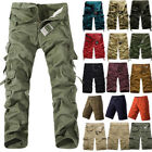 Men's Military Camo Combat Army Cargo Pants Shorts Trousers Casual Hiking Pocket