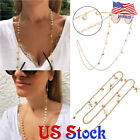 Starfish Shell Pearl Glasses Chain Holder Hanging Neck Glasses Cord Necklace US image