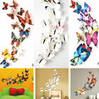 12pcs Set 3d Butterfly Wall Stickers Home Decor Sticker Bedroom Girl Decoration