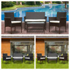 4x Rattan Outdoor Garden Cushioned Seat Wicker Sofa Patio Furniture Set 2 Colors