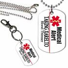 Taking Xarelto Medical Alert Dog Tag Key Chain or Necklace Blood Thinner Alert