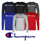 Champion Men'S Classic Jersey Script Logo Long Sleeve T Shirt