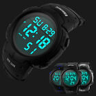 Men's Digital Sports Watch LED Screen Large Face Military Waterproof Watches US image