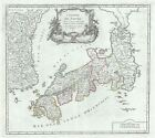 1750 Vaugondy Map of Japan and Korea