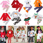 Newborn Kid Baby Girls Christmas Halloween Tops Dress Pants Outfit Clothes Canis