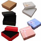 Square Jewellery Gift Box Necklace Ring Bracelet Earring Chain Black Red W Foam