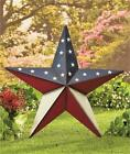 """24"""" PATRIOTIC AMERICANA LARGE SCALE BARN STAR HOME DECOR HANG OR STAKE-2 DESIGNS"""