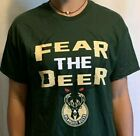 *NEW*  NBA Milwaukee Bucks Kids Green Fear the Deer T-Shirt (XL/L/M/S) on eBay