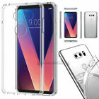For LG V30 V40 ThinQ Phone Shockproof Slim Hard Protective Clear Case Cover Skin