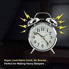 Silent Sweep Snooze Alarm Clock w/ Night Light Bedside Table Travel Clock