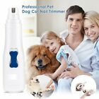 UK Pro Pet Dog Cat Nail Trimmer Grooming Tool Grinder Electric Clipper Kit White