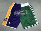 Mens Los Angeles Lakers Boston Celtics just don splice Basketball Shorts Pant on eBay