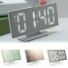 Digital Jumbo LED Bedside Desk Alarm Clock Display Calendar Temperature FAC