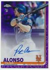 PETE ALONSO 2019 TOPPS CHROME RC ROOKIE PURPLE REFRACTOR AUTOGRAPH SP AUTO #/250