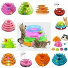 Pet Cat Kitty Kitten Interactive Motion Disk Ball Amusement Plate Trilaminar Toy