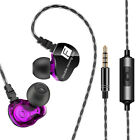 JN_ QKZ CK9 Moving Coil Heavy Bass HiFi Microphone In-ear Sports Earphones Lat