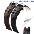 Men Genuine Cowhide Leather Watch Strap Band Pin Buckle 16mm 18mm 20mm 22mm 24mm image