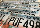 """(choice) Georgia license plate - """"peachtree"""" design - County variety"""