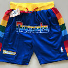 New Men's Denver Nuggets just don big LOGO Basketball Pants Shorts Mesh Blue on eBay