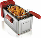 New 2 Liter Professional Deep Fryer Adjustable Temp Black Red Free Shipping photo