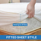 Bamboo Mattress Cover Topper Bed Protector Waterproof Hypoallergenic Full Queen