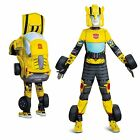 Child Boys Bumblebee Transformers Halloween Converting Costume + Mask Yellow S M