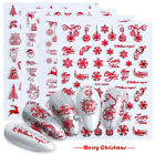 3d Nail Stickers Christmas Halloween Series Leaf Stripe Decals Nail Art Decor