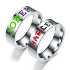 New Harley Quinn and The Joker Lover Couple Stainless Steel Wedding Rings image