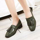 Women's Loafers Leather Tassel Oxford Slip On Walking Flats Casual Boat Shoes