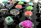 925 sterling silver overlay Handmade Ring Lot Labradorite Gemstone SFM-41