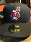 Cleveland Indians New Era Chief Wahoo Retired Logo Authentic On-Field Hat Cap 17 on Ebay