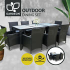 Gardeon Outdoor Furniture Dining Set Table Chairs Patio Setting Wicker 5/7/9 Pcs