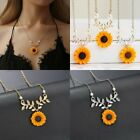 New Fashion Sunflower Pearls Pendant Necklace Choker Chain Women Jewelry Gift