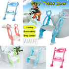 Kid Training Toilet Potty Trainer Seat Chair Toddler with Ladder Step Up Stool image