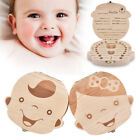 Wooden Baby Tooth Box Fetal Hair Milk Teeth Organizer Box Baby Growth Record