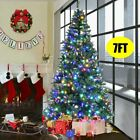 5/6/7FT Pre-Lit Fiber Optic Artificial Christmas Tree LED Multicolor Light Stand