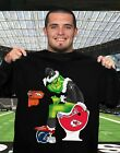 Oakland Raiders Grinch poop on Chiefs, Chargers and Broncos football Black Tee $12.99 USD on eBay