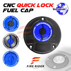 FRW BK/BU CNC Quick Lock Fuel Cap For Ducati 916 All Year 94 95 96 97 98