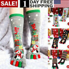 2 Pair Unisex Christmas Socks Multicolor Toe Socks Five Finger Cotton Xmas Socks