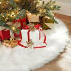 Christmas Tree Skirt Base Floor Mat Cover Xmas Party Home Decoration Plush 152cm