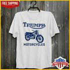 Triumph Motorcycles T Shirt Bob Dylan Highway 61 Revisited T-Shirt White Cotton $17.99 USD on eBay