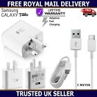 Genuine Samsung Fast Charger Plug & USB Cable For Galaxy